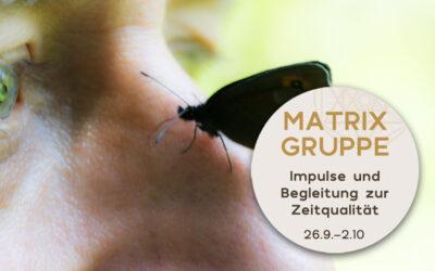 Impulse und Begleitung zur Zeitqualität vom 26.9.-2.10.2021